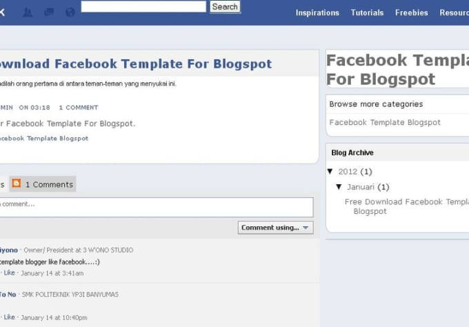 Make blogger template like facebook by triwiyono make blogger template like facebook maxwellsz