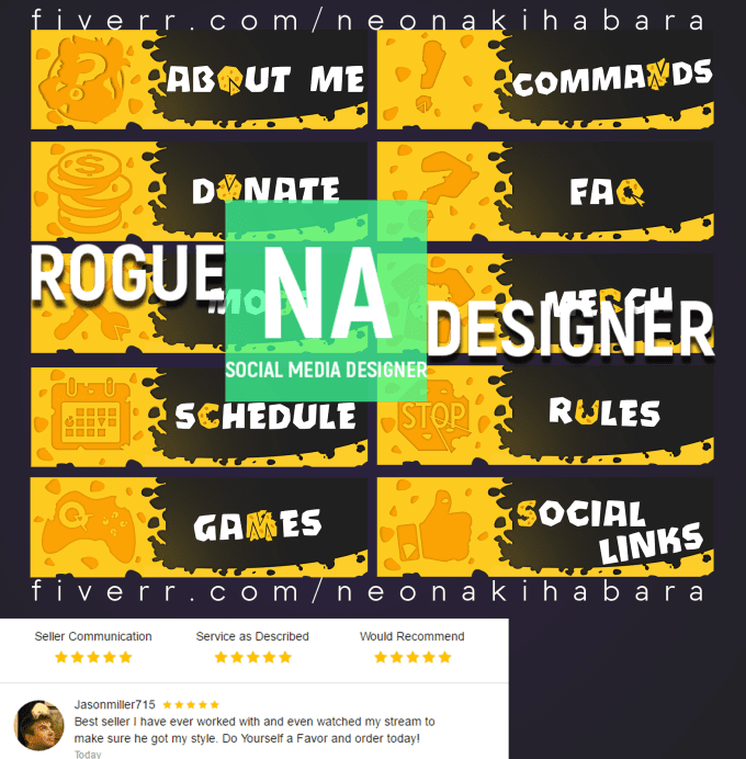 make professional Twitch panels for you