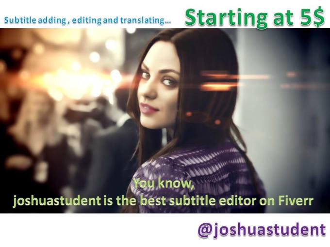 professionally add , edit or translate subtitles