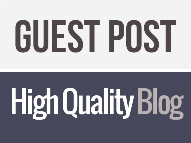 write and publish Guest post on High End Sites