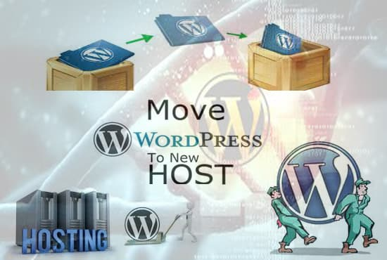 transfer wordpress website from one hosting to another