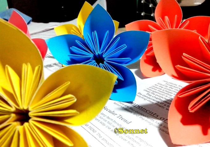 Show How To Make This Type Of Flower With Paper Diy By Sabbirsonnet