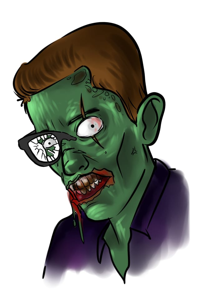 Draw Zombie Version Of You By Yunias22