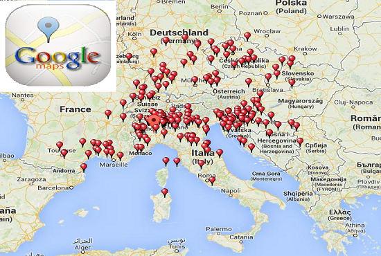 scrape business data google maps local listing
