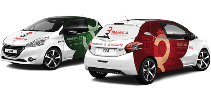 Put your logo photo or text on vehicle van car