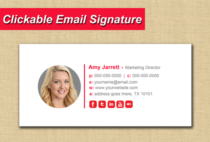 how to change auto signature on email