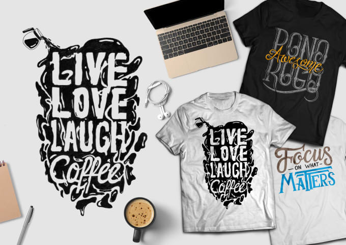 9c04c09ea Create hand lettering and typography tshirt design by Weapestudio