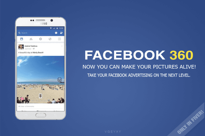 do a facebook 360 photo mockup