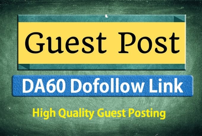 write and guest blog post on da60 blog for great result