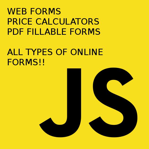 build a custom online calculator or form