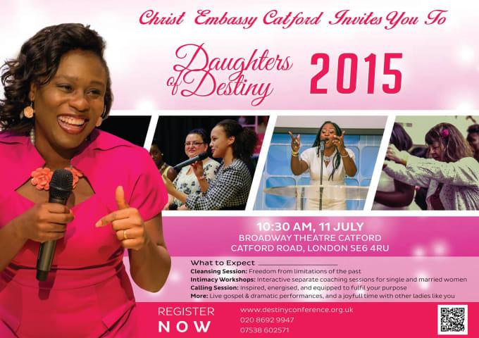 design unique church flyer poster or brochure