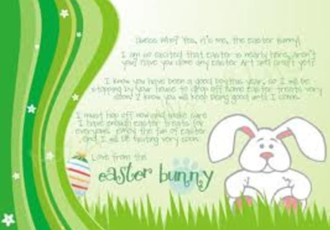 Write a cute letter to your child children from the easter for Letter to easter bunny template