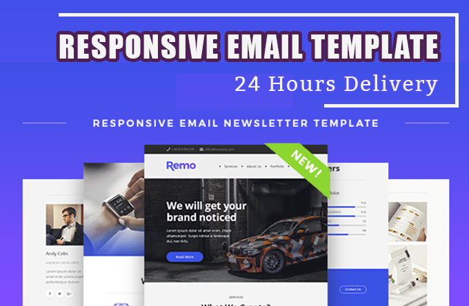 Design Responsive Html Email Template By Snaifs