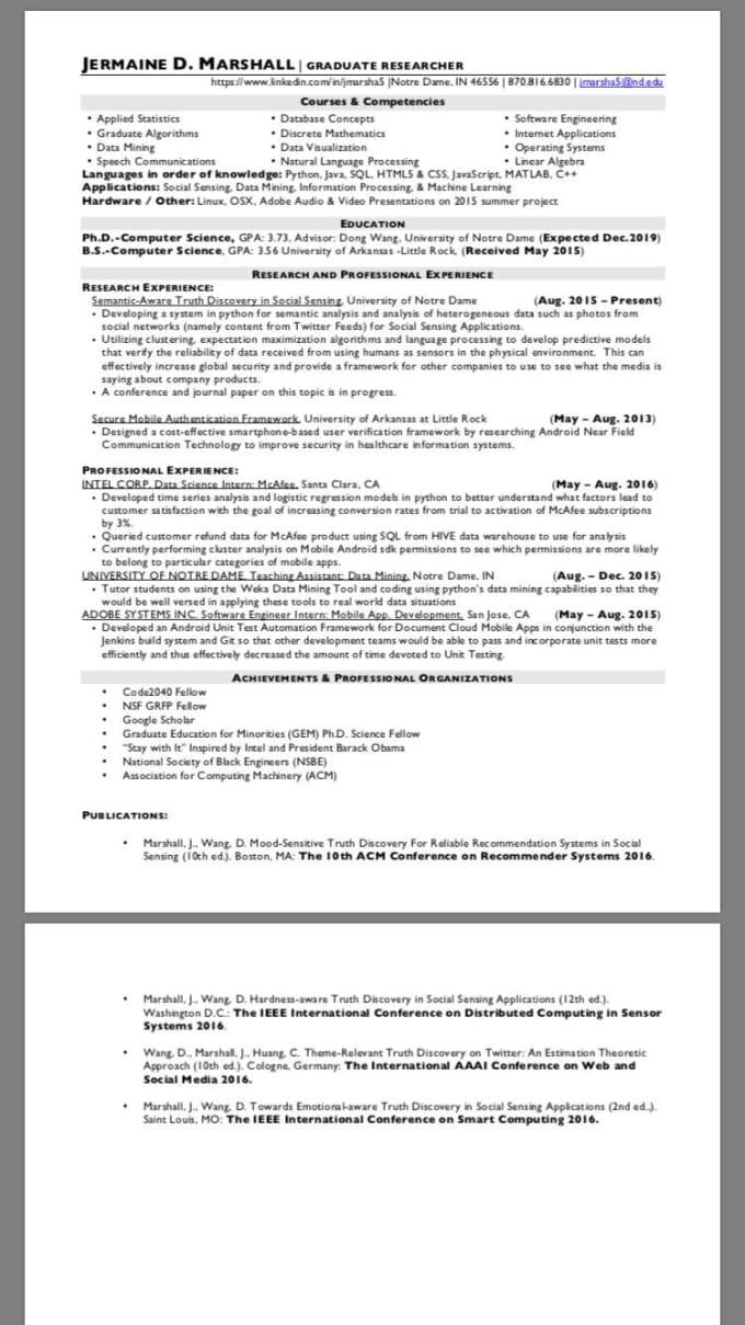 scan your resume into a job scanner based on description