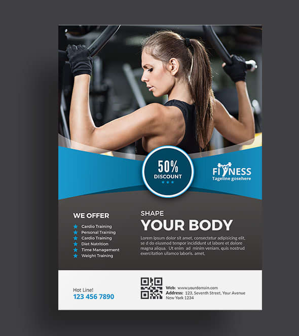 make fitness and gym flyer designs by classicdesignp