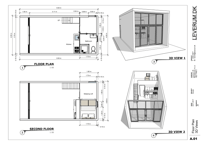 draw your floor plan, elevations, roof plan and sections