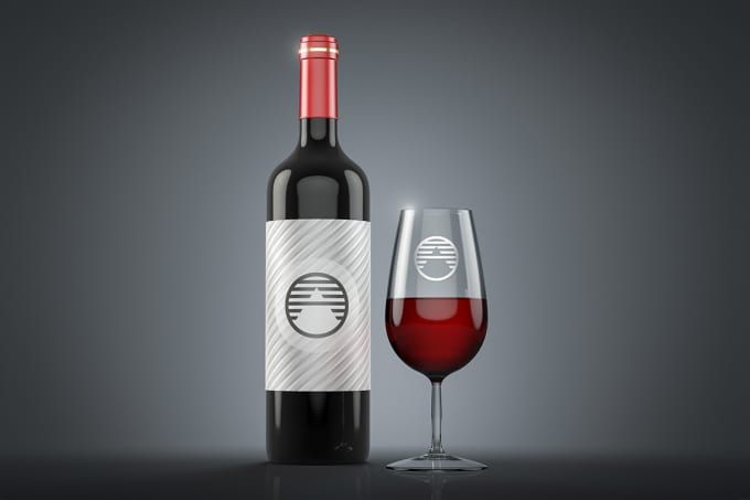 Put Your Image Logo Or Label In Wine Bottle By Lemmyfina