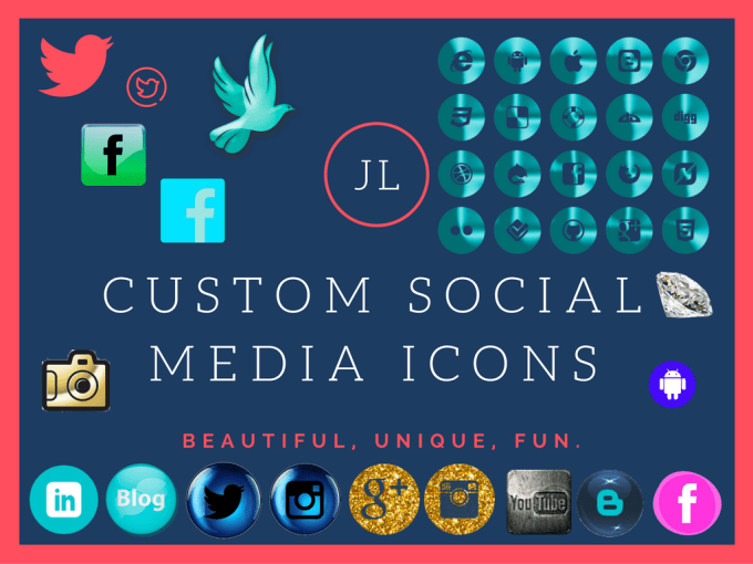 Design Any Custom Social A And Desktop Icons