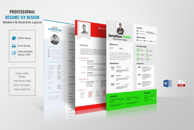 Professional Resume Design Cv Design Fiverr