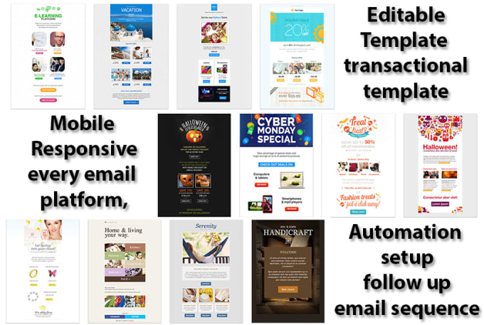 Design Sendgrid And Sendlane Email Template And Setup Automation By - Email grid template