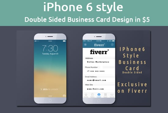 Design an iphone 6 style business card by orangedesigns design an iphone 6 style business card reheart Gallery