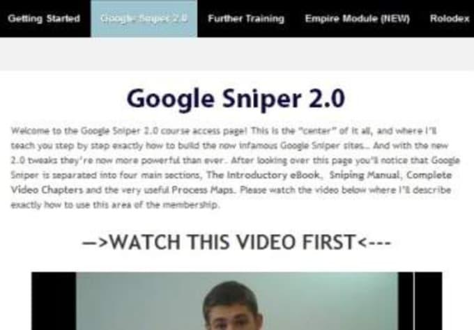 send you full access membership google sniper 2 make money online