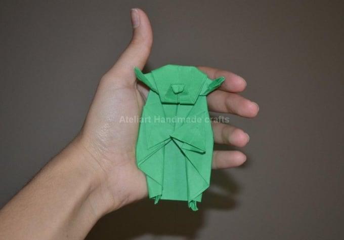 Fold One Origami Master Yoda From Star Wars By Ateliart