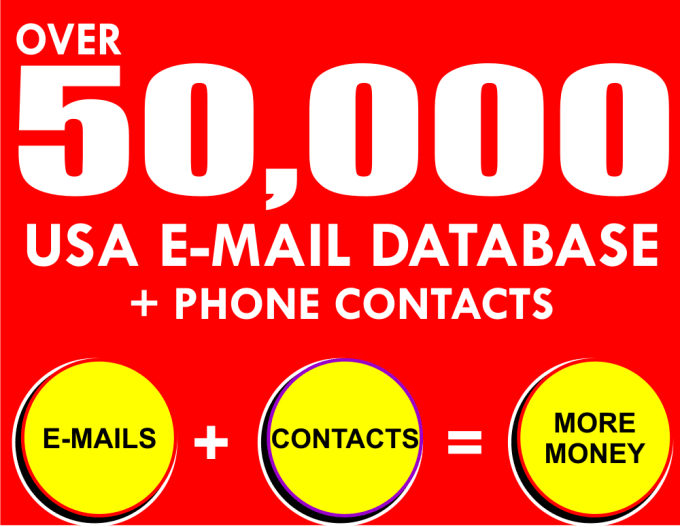give you 50,000 USA Email list