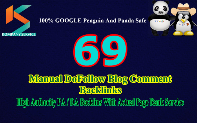submit 69 exclusive high da dofollow backlink