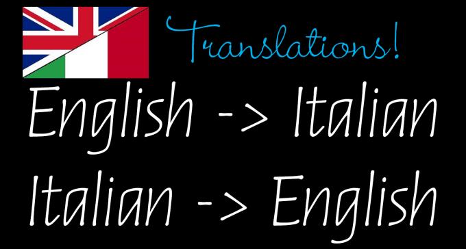 Italian Translation English To Italian: Translate Italian To English And Vice Versa By Gacaccia