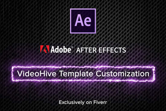 Help you edit videohive after effects template by Videalis