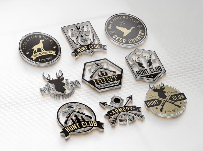 design retro vintage badges, stickers, label