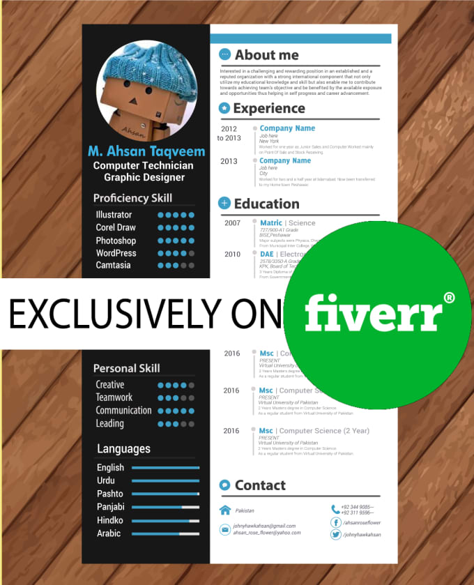 Design An Awesome Cv, Resume, Cover Letter