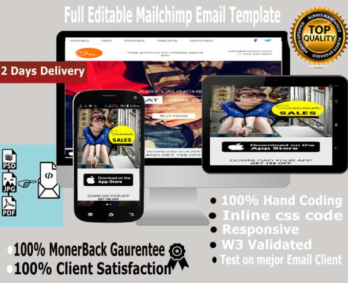 design full editable mailchimp template