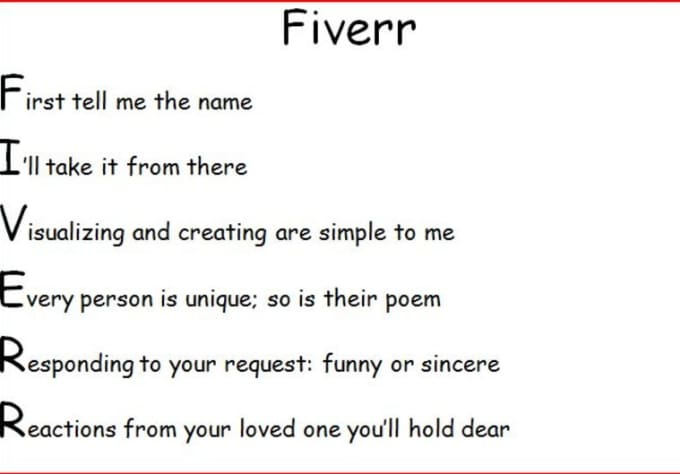 a letter to myself poem write a or sincere acrostic poem using a name of 23991 | write a funny or sincere acrostic poem using a name of your choice