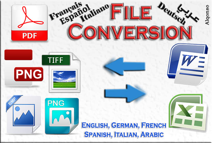 convert images and pdf to Word or Excel