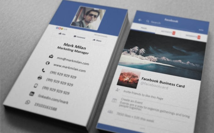 design facebook style business card by s hammad