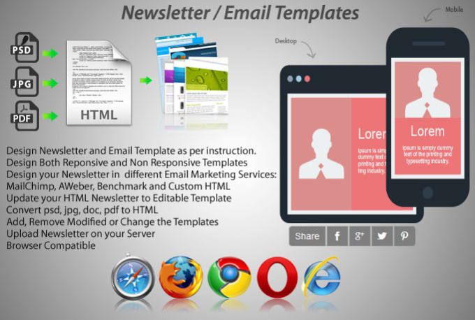 Design Newsletter Html Template Emailer By Sujanshrestha - Newsletter html template