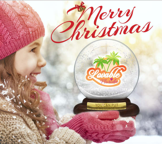 Insert Picture Logo In A Christmas Snow Globe By Casalotu