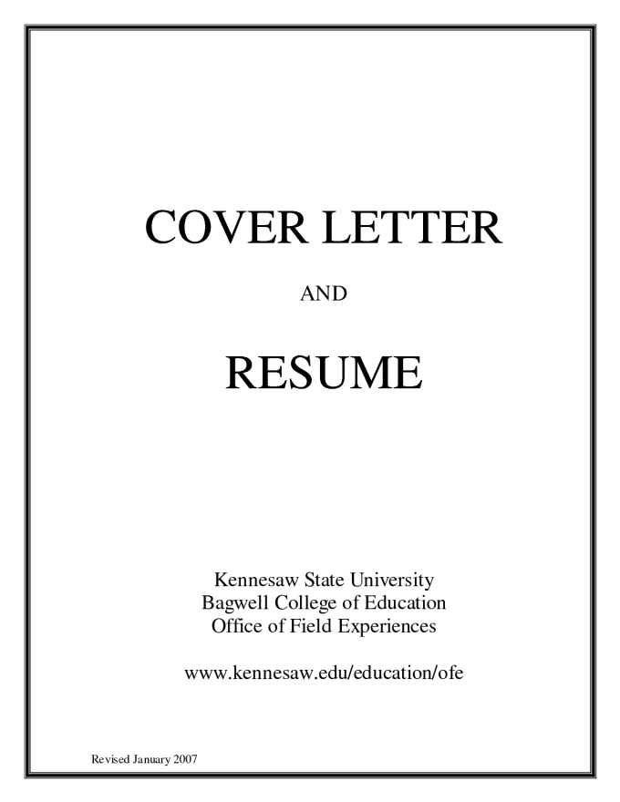 resume and cover letters Resumes a resume is one of the most important tools of job seeking the resume and the cover letter are what get you in the door to the employment interview.