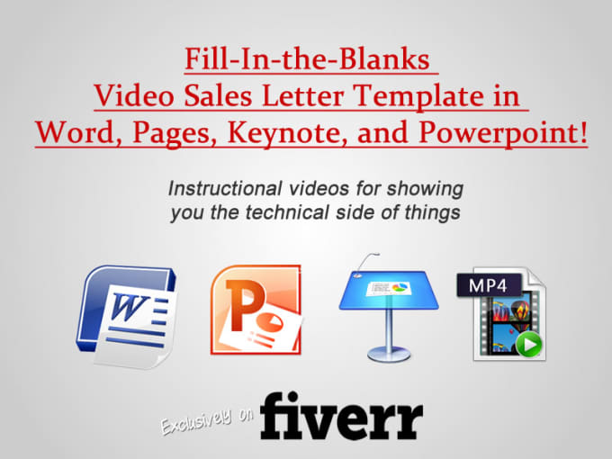 Give You A Video Sales Letter Toolbox Template By Coachchica