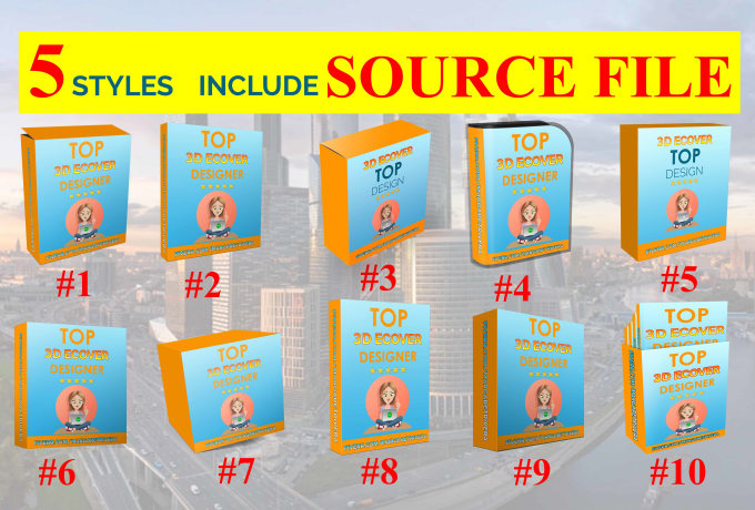 28ceabd5ae09 I will create 5 styles of 3d box cover in 1 day, include source file