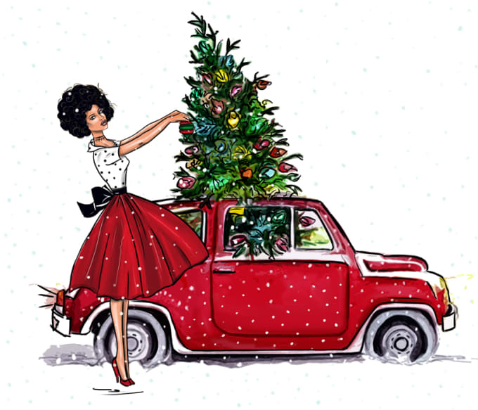 Christmas Illustrations.Make Christmas Illustrations For You
