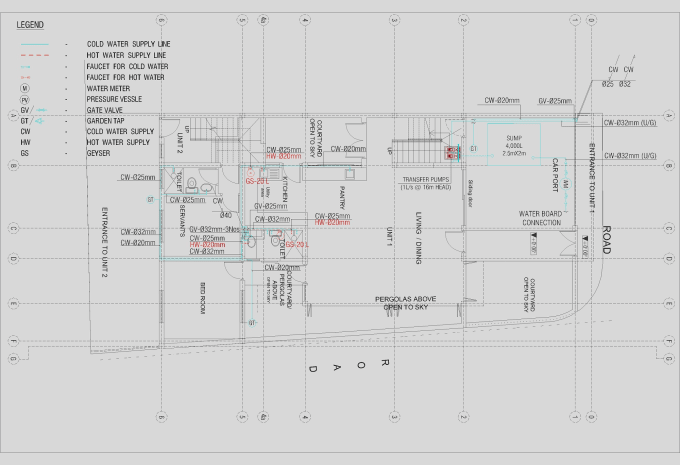 do HVAC and Plumbing designs by AutoCAD