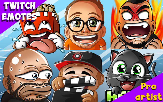 Create twitch emotes for sub,static youtube emojis or mixer
