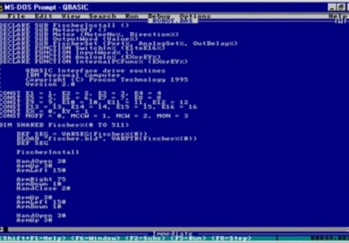 nightquest : I will code in QBasic a program that will write your name on  screen when you start it, or something else for $5 on www fiverr com