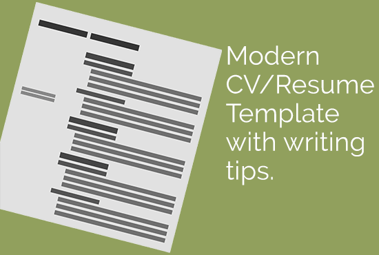 Give You A Modern Cv Template With Writing Tips