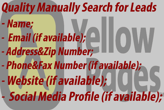 manually compile an email and address list from yellow pages
