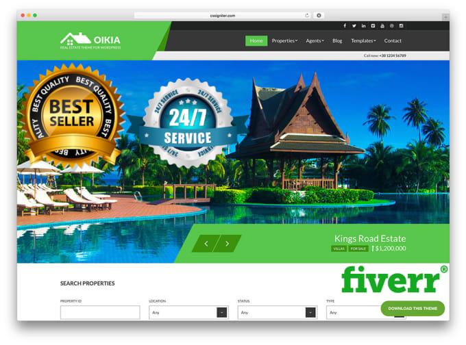 Build realestate wordpress responsive website by Muhammadroshaan