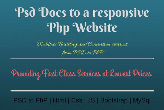 I Will Convert Ur PSD Files To A Responsive Php Web